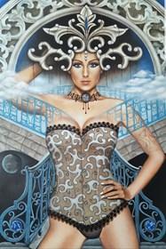 Obraz do salonu artysty Monika Krzymińska-Śluborska pod tytułem Niebiańska
