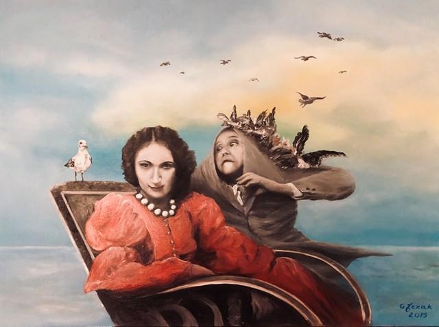 Obraz do salonu artysty Grażyna Jeżak pod tytułem Mewa