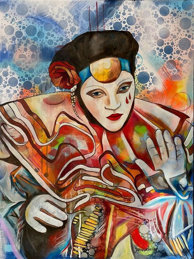 Obraz do salonu artysty Joanna Szumska pod tytułem Smutny karnawał