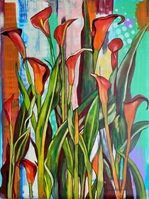 Obraz do salonu artysty Joanna Szumska pod tytułem Kalie
