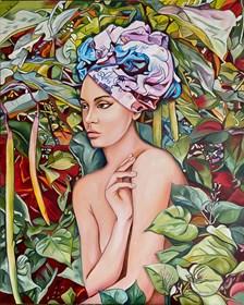 Obraz do salonu artysty Joanna Szumska pod tytułem W cieniu katalpy