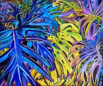 Obraz do salonu artysty Joanna Szumska pod tytułem W cieniu tęczy