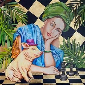 Obraz do salonu artysty Joanna Szumska pod tytułem Nierówna  gra