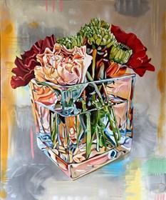 Obraz do salonu artysty Joanna Szumska pod tytułem Martwa natura z goździkami