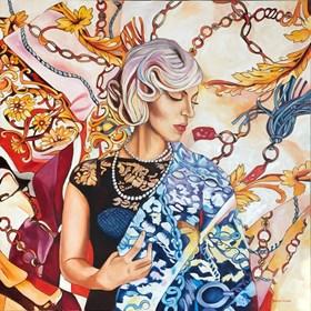 Obraz do salonu artysty Joanna Szumska pod tytułem Czarne perfumy