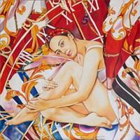 Obraz do salonu artysty Joanna Szumska pod tytułem Jedwabna sukienka