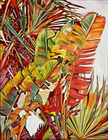 Living room painting by Joanna Szumska titled Chamarel