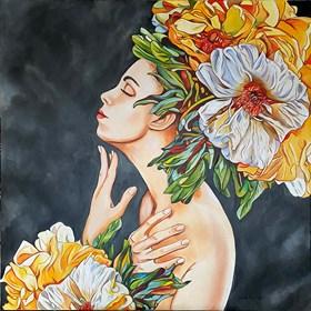 Obraz do salonu artysty Joanna Szumska pod tytułem Zapach peonii