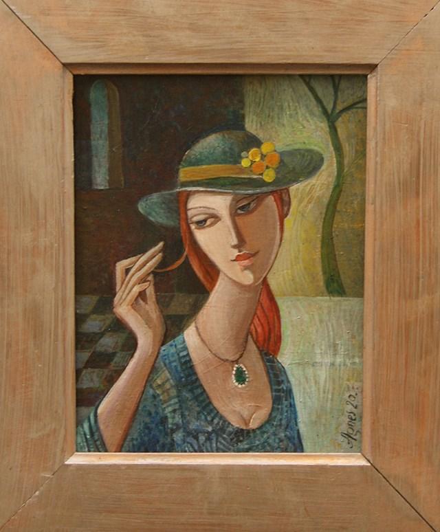 Obraz do salonu artysty Agnieszka Korczak-Ostrowska pod tytułem Dziewczyna o rudych włosach
