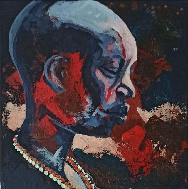 Obraz do salonu artysty Jolanta Kitowska pod tytułem Popatrz na mnie 2, miniatury z Afryki