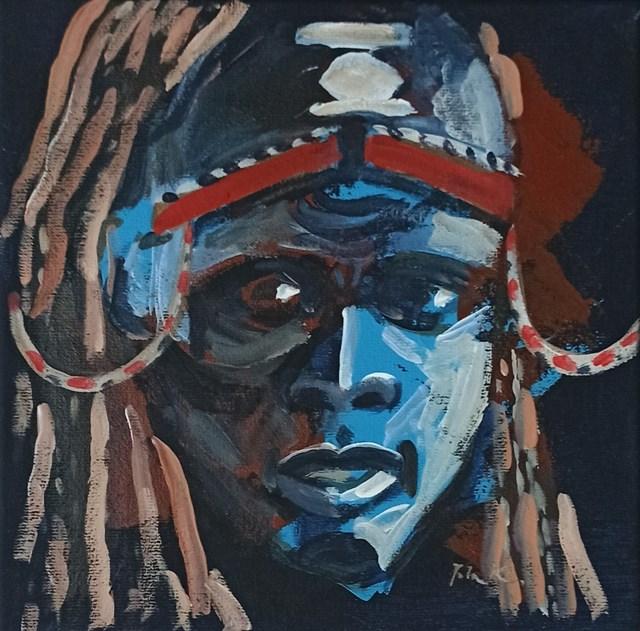 Obraz do salonu artysty Jolanta Kitowska pod tytułem Popatrz na mnie 9. Miniatury z Afryki