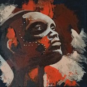 Obraz do salonu artysty Jolanta Kitowska pod tytułem Popatrz na mnie 12. Miniatury z Afryki