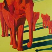 Obraz do salonu artysty Jolanta Kitowska pod tytułem Czerwone słonie z Tsavo 2