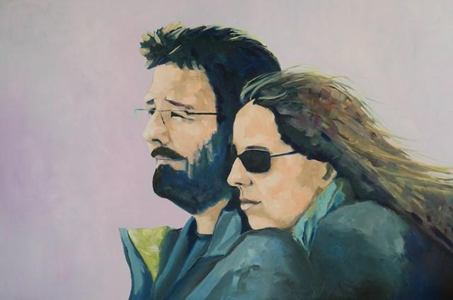 Living room painting by Jolanta Kitowska titled Together