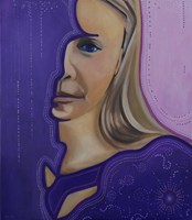 Obraz do salonu artysty Jolanta Kitowska pod tytułem Maski - Fiolet