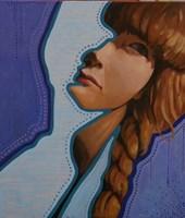 Obraz do salonu artysty Jolanta Kitowska pod tytułem Maski - Granat