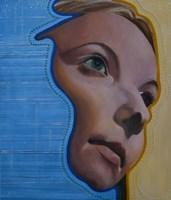 Obraz do salonu artysty Jolanta Kitowska pod tytułem Maski - Niebieski