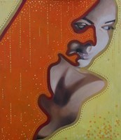 Obraz do salonu artysty Jolanta Kitowska pod tytułem Maski - Złoto