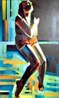 Living room painting by Piotr Kachny titled MelowomaN