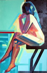 Living room painting by Piotr Kachny titled  Hairy Thoughts (Dirty Mind)?