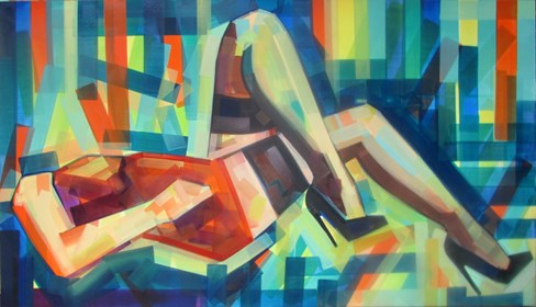 Living room painting by Piotr Kachny titled  FeetSchism