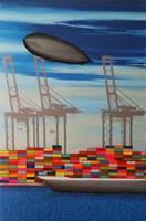 Obraz do salonu artysty Michał Mroczka pod tytułem Port międzykontynentalny