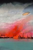 Obraz do salonu artysty Michał Mroczka pod tytułem Płonąca Gdynia