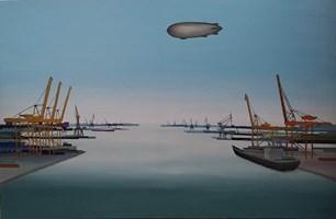Obraz do salonu artysty Michał Mroczka pod tytułem Port orientalny