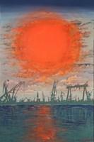 Obraz do salonu artysty Michał Mroczka pod tytułem Republika Pomarańczowego Słońca
