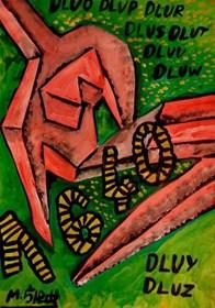Obraz do salonu artysty Mirosław Śledź pod tytułem Untiled 021