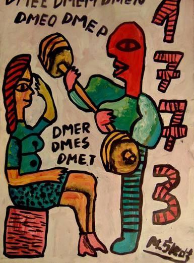 Obraz do salonu artysty Mirosław Śledź pod tytułem Untiled 036