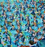 Obraz do salonu artysty Cyprian Nocoń pod tytułem Dyskusja kompozytorów