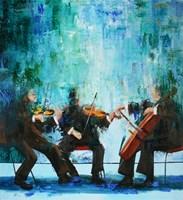 Obraz do salonu artysty Cyprian Nocoń pod tytułem Blue polyphony