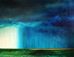 Living room painting by Cyprian Nocoń titled  Wall of rain