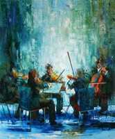 Living room painting by Cyprian Nocoń titled Concerto grosso