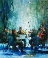 Obraz do salonu artysty Cyprian Nocoń pod tytułem Concerto grosso