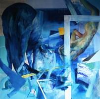 Obraz do salonu artysty Cyprian Nocoń pod tytułem Narzucona rada