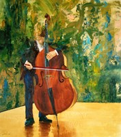 Living room painting by Cyprian Nocoń titled  Double bass suite