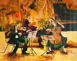 Obraz do salonu artysty Cyprian Nocoń pod tytułem Sztuczne ognie