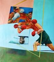 Obraz do salonu artysty Cyprian Nocoń pod tytułem W ringu