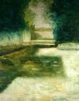 Obraz do salonu artysty Cyprian Nocoń pod tytułem Cień ogrodu