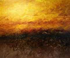 Living room painting by Cyprian Nocoń titled Sun set
