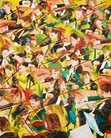 Obraz do salonu artysty Cyprian Nocoń pod tytułem Taniec na smyczki