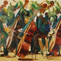 Obraz do salonu artysty Cyprian Nocoń pod tytułem Kwartet zielony