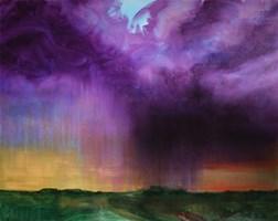 Obraz do salonu artysty Cyprian Nocoń pod tytułem Oberwanie chmury
