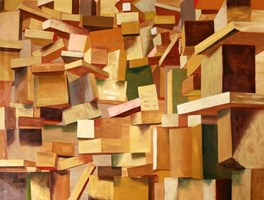 Obraz do salonu artysty Cyprian Nocoń pod tytułem The Wall
