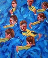 Obraz do salonu artysty Cyprian Nocoń pod tytułem Szkice muzyczne - błękitne