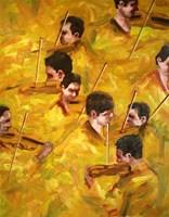 Obraz do salonu artysty Cyprian Nocoń pod tytułem Wiosenna gonitwa