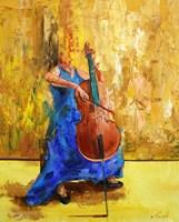 Obraz do salonu artysty Cyprian Nocoń pod tytułem Szalona solistka