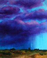 Obraz do salonu artysty Cyprian Nocoń pod tytułem Szkice meteorologiczne - burza